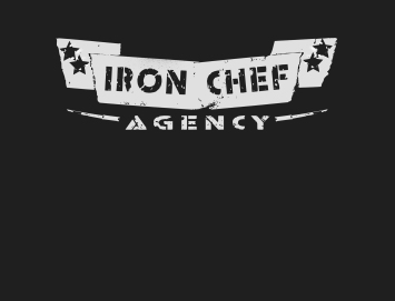 iron chef banner logo grey